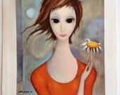 Daisy Margaret Keane Big Eye Girl Lithograph Book Print 1963