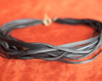 Strand Bike Tube Necklace