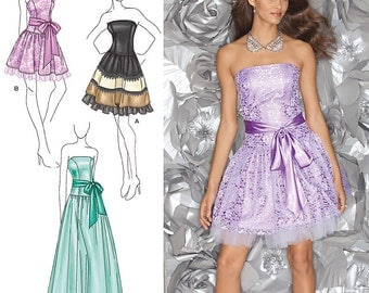 Rock Your Prom with This Dress - Simplicity 1655 - Out of Print Designer Sewing Pattern, Sizes 4, 6, 8, 10, 12