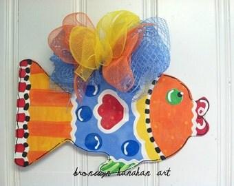 Fun Fish Door Hanger - Bronwyn Hanahan Art