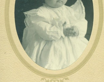 1911 Truman Baby Picture Hillsboro North Dakota ND Card Studio Portrait Antique Photograph Photo