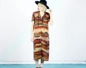 Desert Scenic Pattern Maxi Dress - S