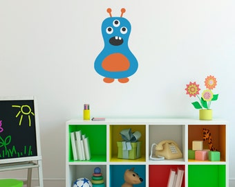 Monster Wall Decal 9 - Monster Wall Art - Children Wall Decals