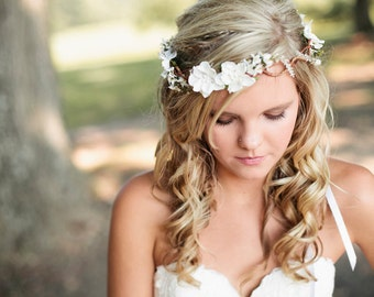 wedding headband, Bridal Flower hair, wedding accessories, wedding headpiece,  Headband, head wreath, hair accessories, flower girl