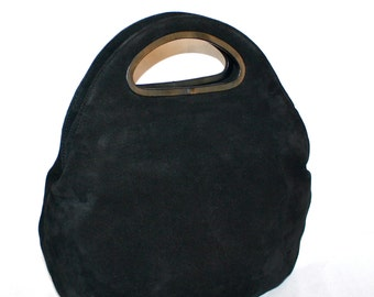 BOTTEGA VENETA Vintage Clutch Oversized Black Diamond Folding Tote - AUTHENTIC -