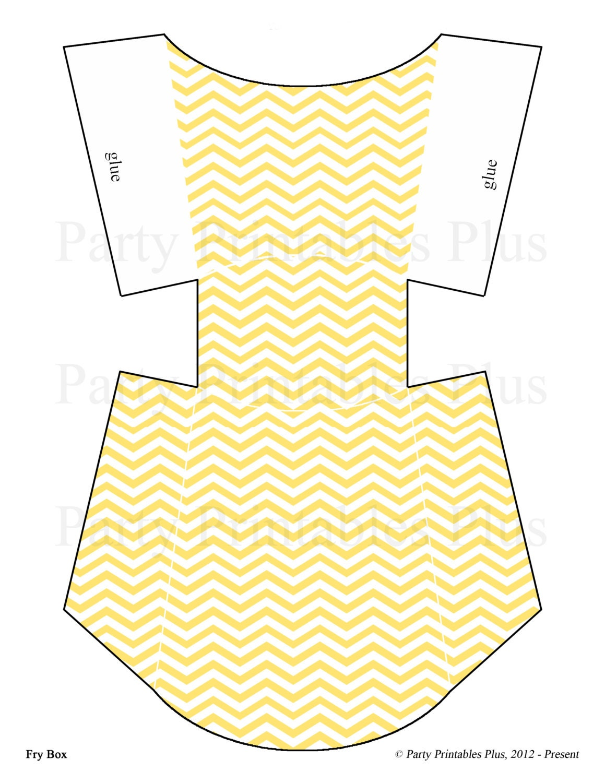 Chevron pattern yellow and white diy digital printable instant
