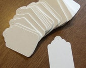 100 Merchandise Tags White Unstrung Price Tags