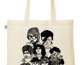 Illustrated Under the Influence of Tea hand printed Tote Bag