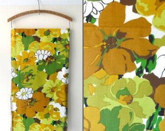 "Vintage Mod Floral Fabric 56"" Square"