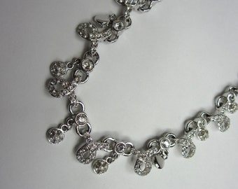 Swarovski Crystal necklace.  Bridal Wedding Day Necklace. Cocktail Necklace.New Old Stock.