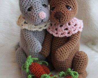 Crochet Pattern Rabbit by Teri Crews instant download PDF format Crochet Toy Pattern