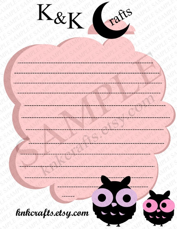 KnKCrafts PIF Stationery ink Cloud, Blue Cloud, Pink Stripe, Blue Stripe and Happy Halloween