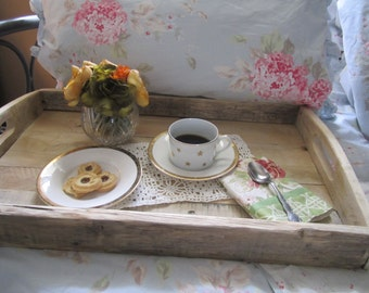 Serving Tray Made With Reclaimed Wood  Eco Friendly Saving Trees