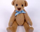 Miniature Artist Bear, Caramel brown, 6cm - 2 3/8 inches by VonneBears