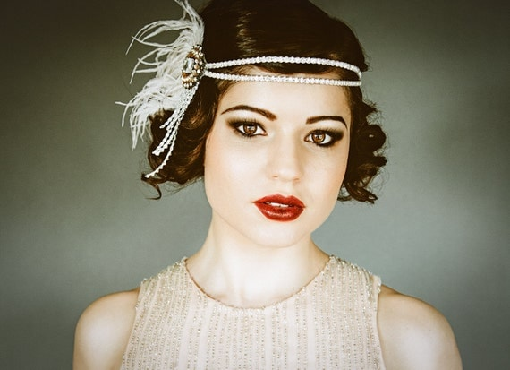 Flapper Headband Bridal Hairpiece The Great Gatsby By Danani