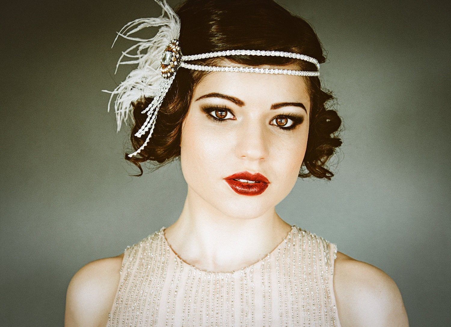 1920s Flapper Headband Gatsby Headpiece Wigs