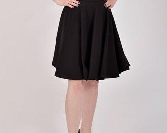 Circle skirt, black skirt