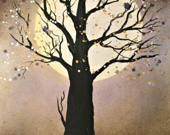 Moon Light - Original Painting by Alma Yamazaki