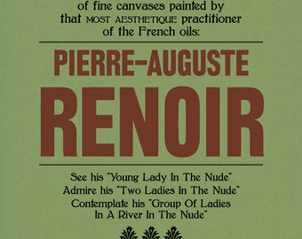 Renoir Poster Print: Modern Art, 20th Century, Exhibition Announcement Poster