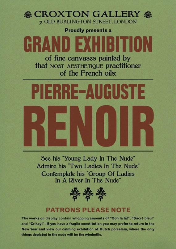 Renoir Poster Print: Modern Art, 20th Century, Exhibition Announcement Poster