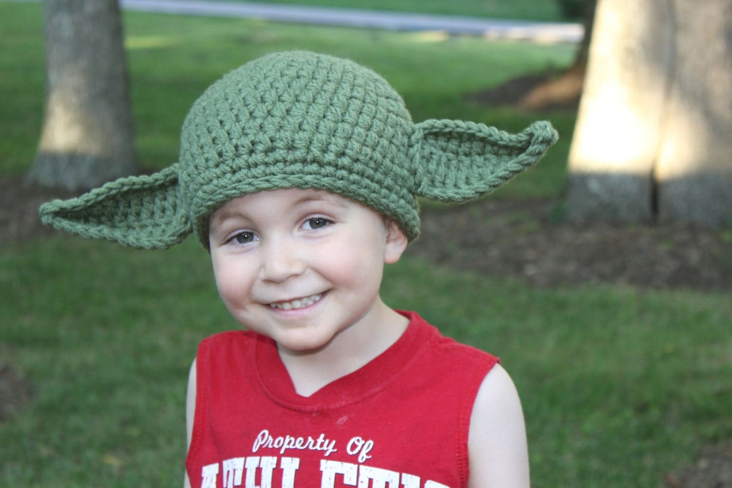 Yoda Hat with Posable Ears-Crocheted in many sizes-Great