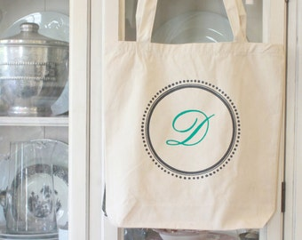 Personalized bridesmaids bags -gifts -Wedding- Bridesmaids - Monogrammed Tote Bags - -by Modern Vintage Market