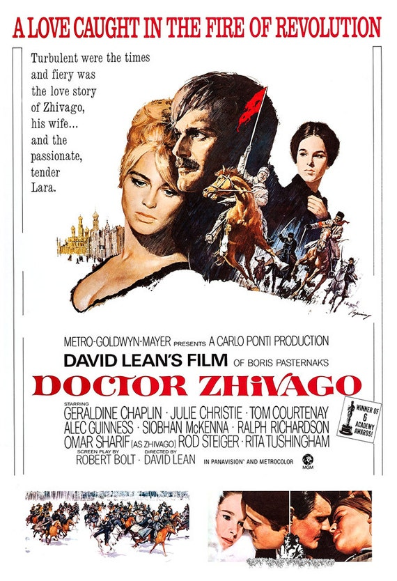 Doctor Zhivago Home Theater Decor Classic Movie By Jangoarts