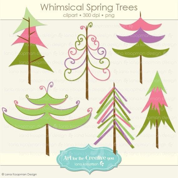 whimsical christmas tree clip art free - photo #21