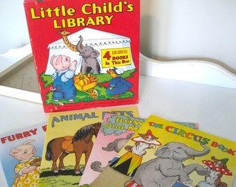 Vintage Books - Children's  - Set of 4 - Little Child's Library - Platt & Munk - 1943 - Retro Child Book
