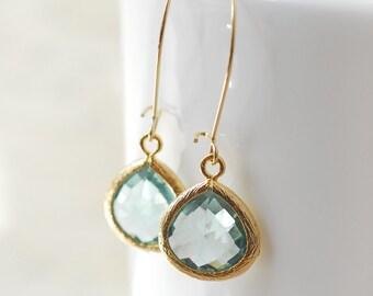 Seafoam Green Bridesmaid Jewelry Weddings Bridesmaid Earrings Bridesmaid Gift Bridal Earrings Jewelry Wedding Jewelry