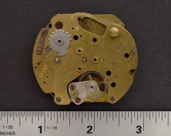 Steampunk Art Supplies Vintage pocket watch movement gold brass silver watch parts gears cogs wheels clockwork Industrial Altered Art 2575