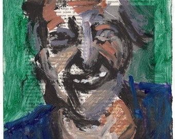 Original Painting - 'The Old Lady with the Great Smile' by Peter Mack