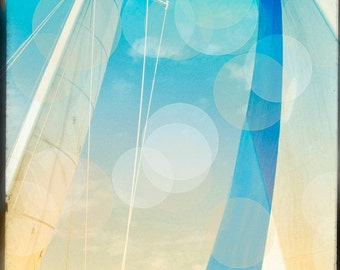 Sailing Photography, Sailboat Photography, Bokeh, Large, Fine Art Photo, Abstract Sails
