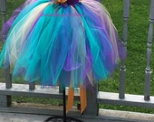 Peacock Tutu Dress Flower Girl Dress All Sizes and Lengths this listing  Newborn to Girls 5