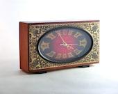 Vintage Wooden Clock from Russia, Soviet Clock, Retro clock, From 80s, Unique Golden Ornament