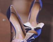 Blue wedding shoes, Blue high heels, bridals shoes, something blue, Crystal heels, Bridal shoes