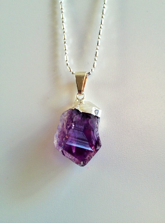 amethyst crystal necklace - photo #6