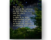 Child of the Universe Desiderata Poem by Max Ehrmann 8x10 Trees and Stars Print Design by Ginny Gaura