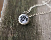 Full Moon necklace - Moon locket - initial jewelry - Personalized jewelry - I love you to the moon and back solar system /L00