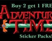 Adventure Time Sticker Packs - Buy 2 Get 1 FREE