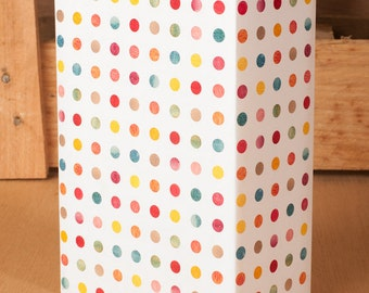 Watercolor Polka Dot / Gift Wrap 12 Sheets