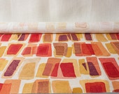 Robert Allen Fabric -  Halmstad Ruby Upholstery Fabric - Fabric by the Yard - Yellow Gold Red Eggplant Purple Beige Earthy Rectangles