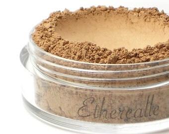"Light Shimmer Bronzing Powder - Mineral Bronzer - ""Sunshine"" (light tan with golden sheen, natural bronzer Net Wt 4.5g jar) - Vegan"