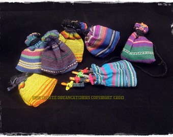 Six (6) Worry Dolls with Pouch Set