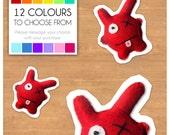 "Mini Felt Monster Plush Toy by BABUA - ""George"" - 12 Colors"