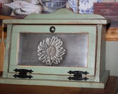 Sunflower, Punched Tin, Bread Box, Cottage, Kitchen SHIPS FREE to the US!
