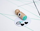 Heart Mini Stamp with mint rubber