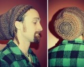 Handmade Crochet Slouch Hat, Unisex, Mens Hat, Winter Hat, Hippie Hat, DreadCap, Dreadlock Hat, Rasta Hat, Dreadie, Slouchy Beanies