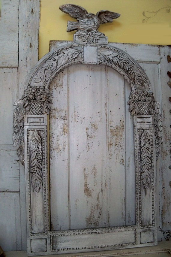 Large Ornate Frame Recycled Detailed Piece Re Purpose Mirror