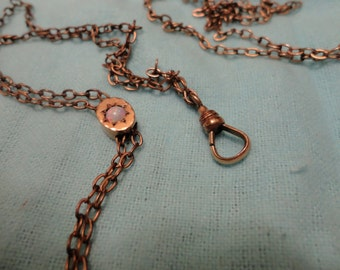 10% discount Victorian Watch Fob Slider Chain with Opal